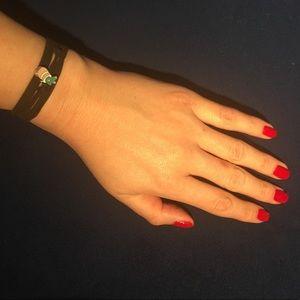 Other - AQUARIUS leather wrap bracelet astrology zodiac